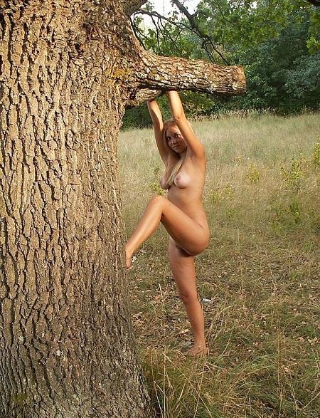 Молодая блонда оголилась  - секс порно фото