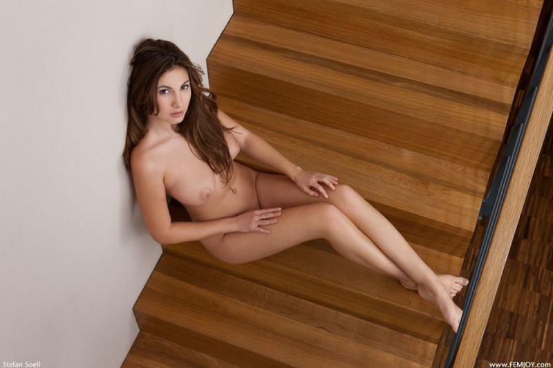 Аппетитная голая девка показывает всю себя - секс порно фото